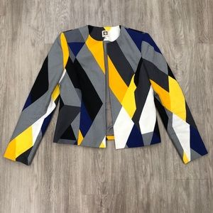 Anne Klein Multi Colored Geometric Print Jacket